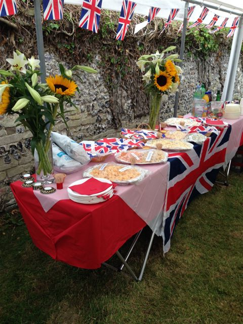 WW1 Cheese and Wine table