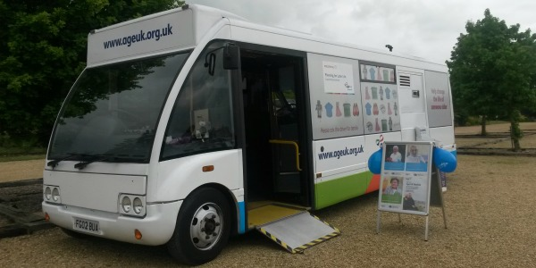 Age UK WIltshire Advice Bus Image